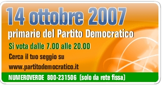 Il 14 ottobre 2007 si vota per le primarie del Partito Democratico